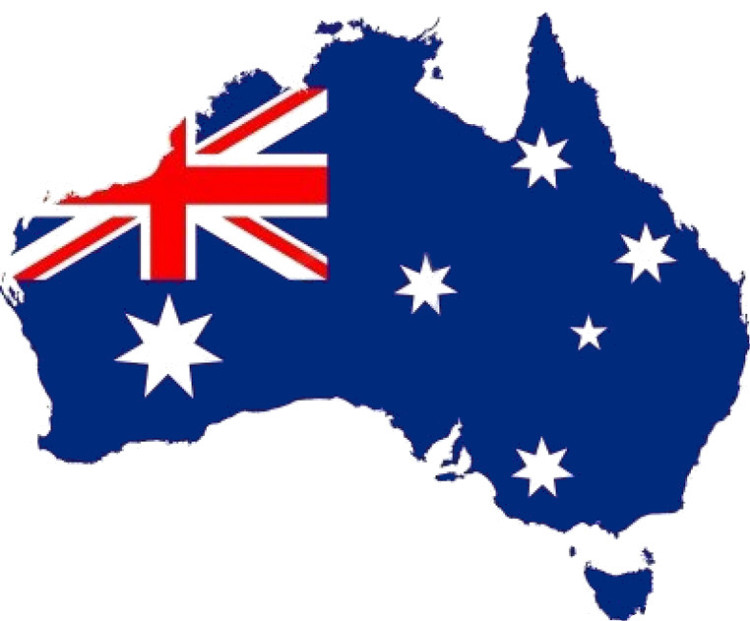 fahne-landkarte-australien